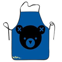 Cute Bear Baby Animal Head Portrait Chef Kitchen Aprons Cook