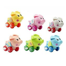 Cute Cartoon Animal Pig Clockwork Wind Up Baby Toys Running