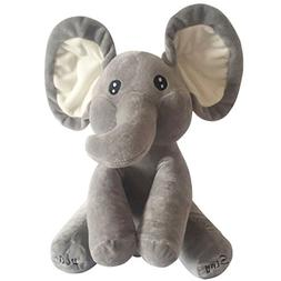 Cute Elephant Plush Toy Singing Stuffed Animated Kids Gift