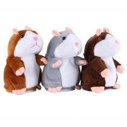 Cute Talking Hamster Plush Toy Speaking Sound Record Repeat