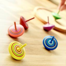 Cute Toys Wooden colorful Shaped Spinning Tops Gyro Intellig