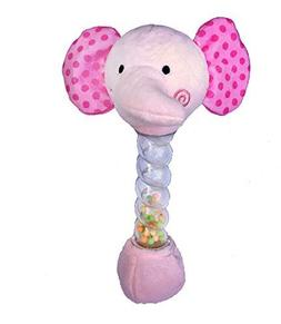 cutie buddies pink elephant rattle