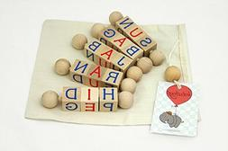 Intuitoys CVC Word Twisters - Uppercase Letters -Montessori