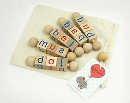 Intuitoys CVC Word Twisters - Lowercase Letters - Montessori