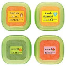 Baby Food Labels, Removable Write-On Date Labels for OXO TOT