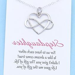 Step Daughter Gift • Sterling Silver Infinity Heart • In