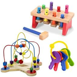 Melissa & Doug Deluxe Pounding Bench with Classic Toy Bead M