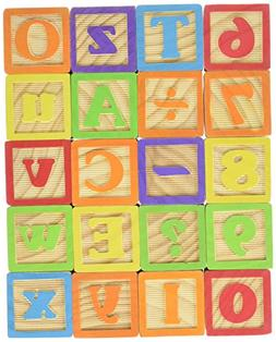 Maxim Deluxe Wooden ABC Blocks. Extra-Large Engraved Baby Al