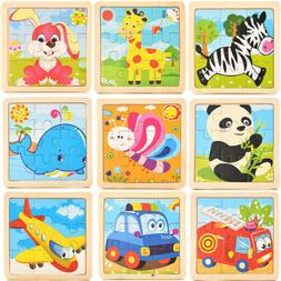 Development Baby Toys 3D Wooden Puzzle Cartoon Learning Educ