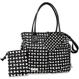 Fisher-Price 5-Piece Diaper Bag Tote in Black Bow by Fisher-