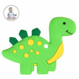 Dinosaur Baby Teethers BPA Free Silicone Nursing Chew Toy fo