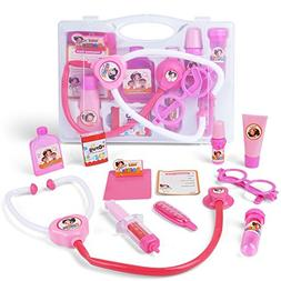 AMOSTING – 10pcs Pink Doctor Kit Pretend and Play Medical