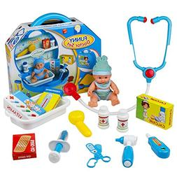Doll Doctor Kit Pretend Play Medical Play Set with Stethosco