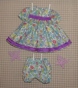 """Handmade Doll Clothes for 23"""" - 24"""" Baby Dolls - """"Splash of"""