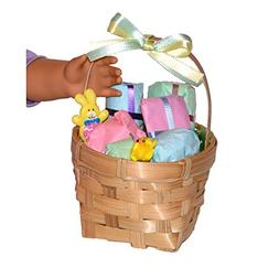 18 Inch Dolls Easter Basket - 6 Gifts to Open - Accessories