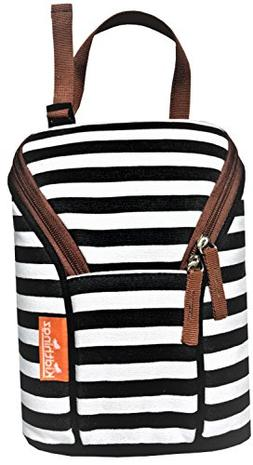 Kidthingz Double Bottle Bag Insulated- Easy to Take Anywhere