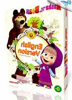 DVD disc with Russian cartoons Masha and the Bear baby gift