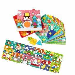 AMOSTING Early Learning Educational Toys Button Art for Todd