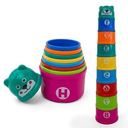 Kidsthrill Educational Rainbow Stacking & Nesting Cups Baby