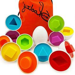 Skoolzy Shapes Toddler Games Egg Toy Learning Colors and Geo