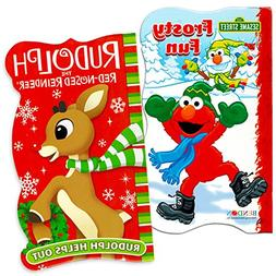 Sesame Street Elmo Holiday Board Book Set For Kids Toddlers
