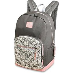 Emma & Chloe Lace White and Gray 17 inch Backpack by A.D. Su
