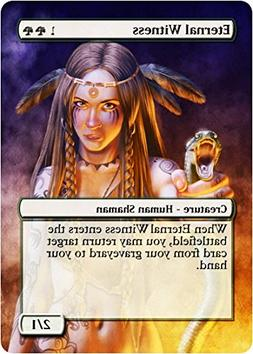 Eternal Witness - Edh Casual Play Only - Art Overlay - Non T