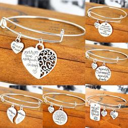 Expandable Wire Wrapped Bracelets Silver Bangle Charm Bracel
