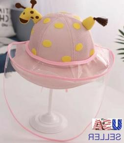 🍒FACE SHIELD FULL PROTECTION HAT FOR BABIES/REMOVABLE/PIN