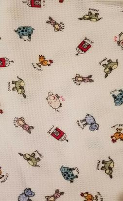 Farm Animals Fabric Remnants For Baby Blanket