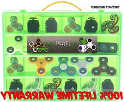 Fidget Carrying Case - Stores Dozens Of Spinners, Cubes, Bea