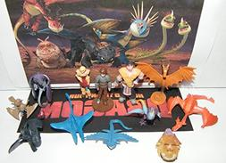 How To Train Your Dragon Figure Set of 12 Mini Toys Party Fa