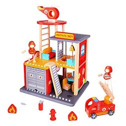 USA Toyz Fire Station Playset and Fire Truck - Premium Doll