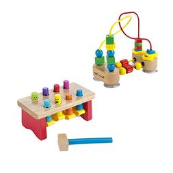 Melissa & Doug First Bead Maze with Deluxe Pounding Bench