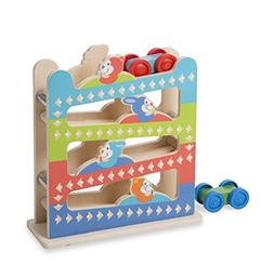 Melissa & Doug First Play Roll & Ring Ramp Tower 2 Wooden Ca