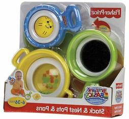 Fisher Price Brilliant Basics - Stack & Nest Pots & Pans