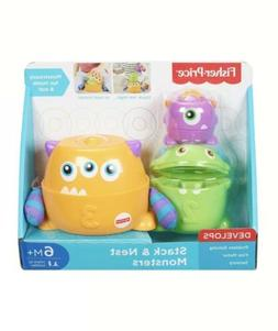 Fisher Price Stack & Nest Monsters 6 Months Baby Toddler Toy