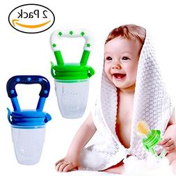 Hibery 2 Pack Baby Food Feeder, Baby Fruit Net, Fresh Food F