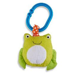 Carter's Unisex Baby Frog Ziggle Plush Clip Pull Toy