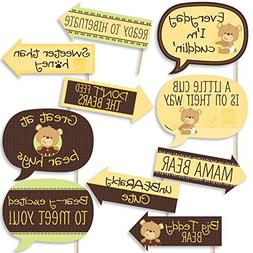 Funny Baby Teddy Bear - Baby Shower Photo Booth Props Kit -