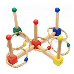 Funny Wooden Montessori Educational Toy Throwing Circle Nurs