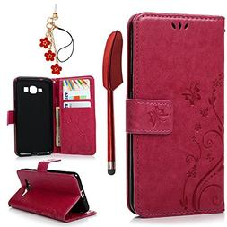 MOLLYCOOCLE Galaxy Grand Prime Case, Stand Wallet ID Holders