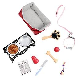 Our Generation Pet Care Bundle with 1 Pet Care Set and 1 Duk
