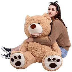 MorisMos Giant Teddy Bear with Big Footprints Plush Stuffed