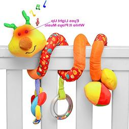 PlayBoom Giraffe Baby Crib Toy with Light & Music | Wraps Ar
