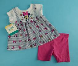 Disney Baby Girl 2 Pc Set Minnie Mouse Top and Pant Set Size