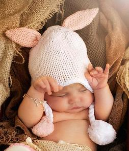 Girls/Boys Bunny Ears Knit Beanie Cap Hat for Infant Baby To