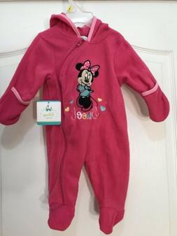 Disney Baby Girls Minnie Mouse Full Length Fleece 6-9 Months