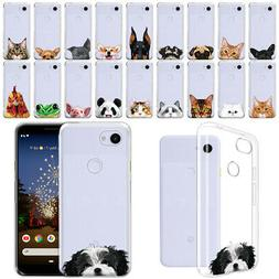 "For Google Pixel 3a 5.6"" Animal Design Clear TPU Silicone So"
