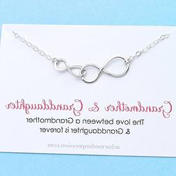 Grandmother & Granddaughter • Double Infinity Necklace •